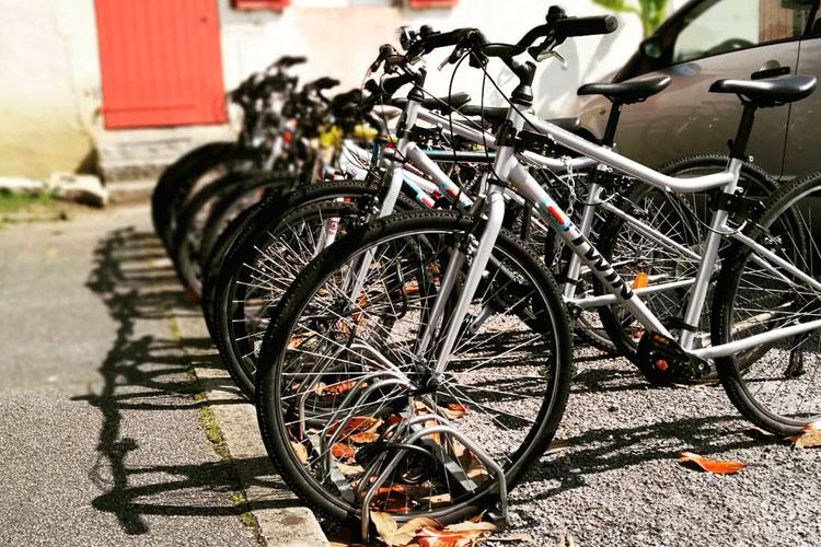 portabicicletas con bicicletas