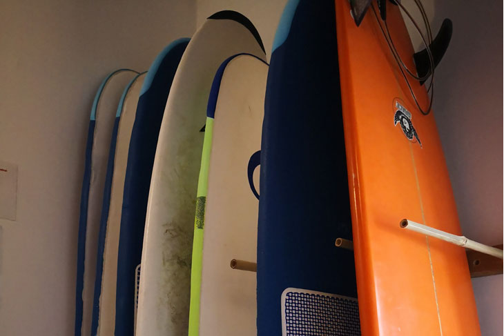 surf hostel surfboard stock